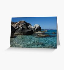 Sunny Caribbean Beach - The Baths on Virgin Gorda, British Virgin Islands, BVI Greeting Card