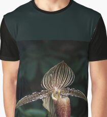 Exotic Dark Beauty in Stripes Graphic T-Shirt