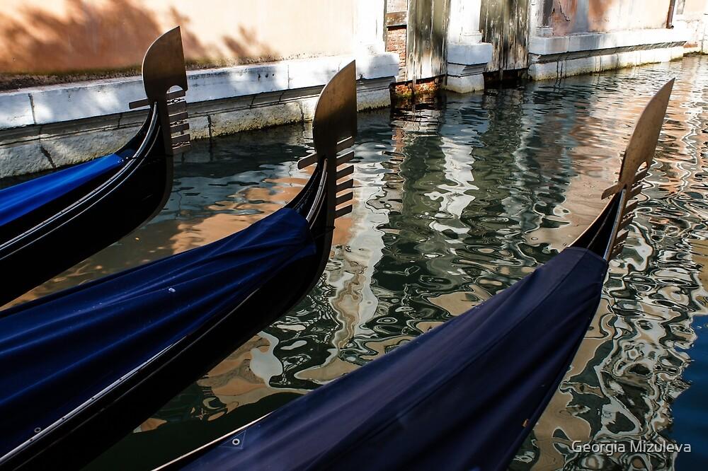 Venetian Gondolas by Georgia Mizuleva
