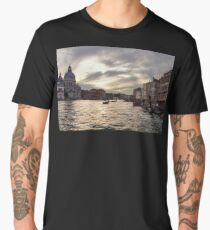 Impressions of Venice - the Grand Canal in Silver and Pearl Men's Premium T-Shirt