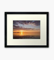 Golden Pink Toronto Sunrise Framed Print