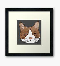 Cat Face Dress Framed Print
