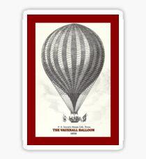 The Vauxhall balloon (1850) Sticker