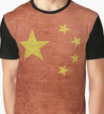 Grunge China Flag Graphic T-Shirt