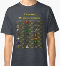 Runescape - My eyes are up here Classic T-Shirt