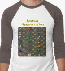 Runescape - My eyes are up here Men's Baseball ¾ T-Shirt
