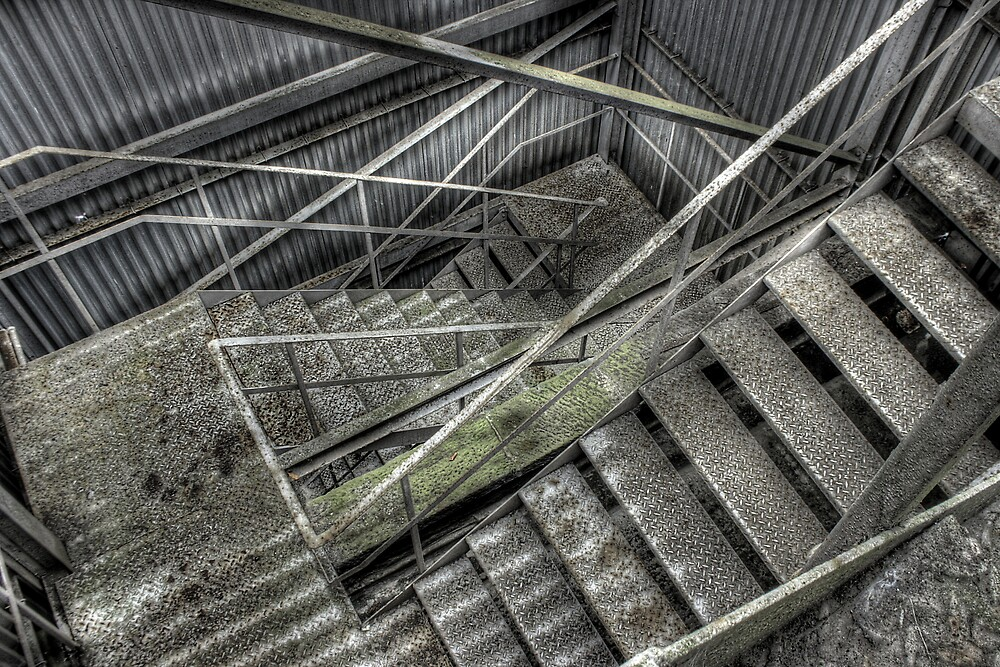 Stairs descend by Richard Shepherd