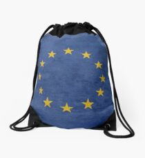 Grunge EU Flag Drawstring Bag