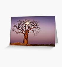 Twilight Moonlight Greeting Card
