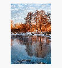 Cold Ice Trio - Lake Ontario Impressions Photographic Print