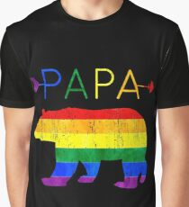 Papa Bear Arrows LGBT Pride Graphic T-Shirt