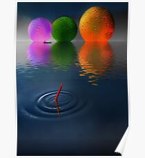 Floating Spheres Poster