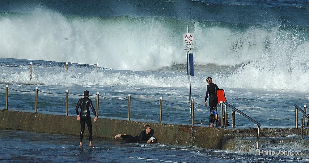Turmoil - Mona Vale Beach Pool, Sydney,AUSTRALIA by Philip Johnson