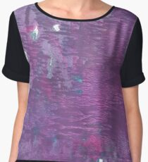 French lilac abstract watercolor Chiffon Top