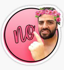 Oscar No, But More Flowery Sticker