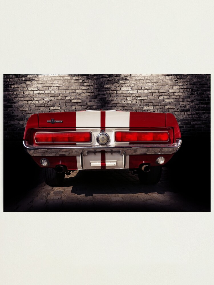 Silver Car MUSTANG GT500 Canvas Art Cheap Wall Print Home Interior