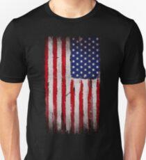 USA flag Grunge Unisex T-Shirt