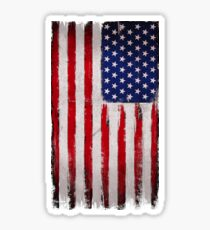 USA flag Grunge Sticker