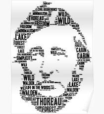 Thoreau word cloud Poster