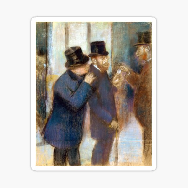 Edgar Degas Portraits at the Stock Exchange Sticker
