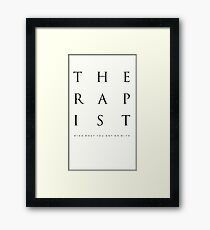 Mind What You Get On With. Framed Print