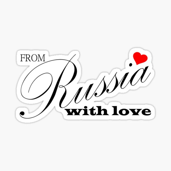 From Russia with love (black) Sticker