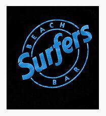 Surfers Beach Bar Tenerife Photographic Print