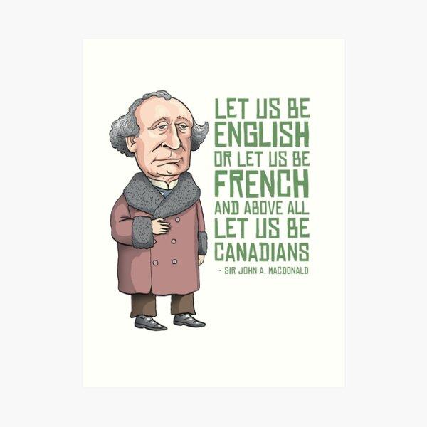 John A. Macdonald Art Print