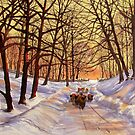 Evening Glow on a Winter Lane by Glenn Marshall