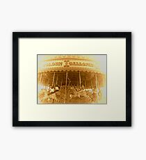 THE MERRY-GO-ROUND Framed Print