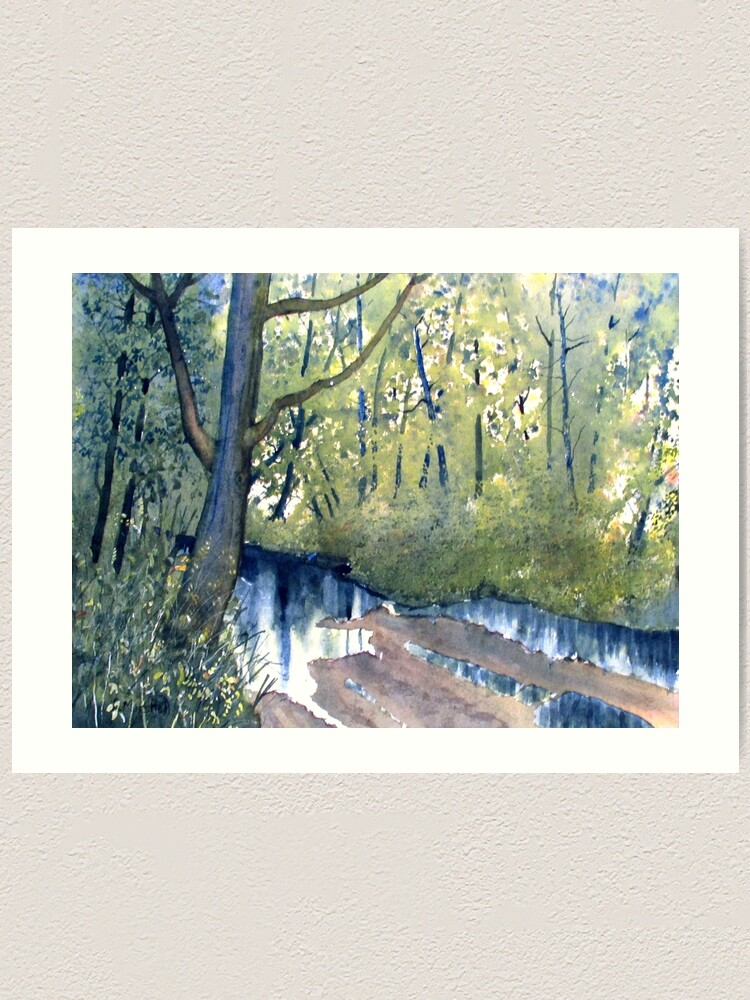 Alternate view of Waterlogged Forest Trail Art Print