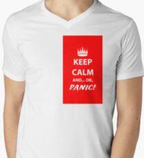 Keep Calm and Panic! Men's V-Neck T-Shirt