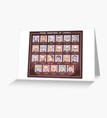 Canada's Prime Ministers (updated for 2015-2019) Greeting Card