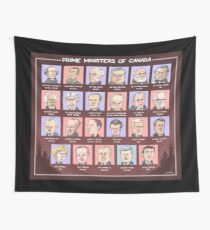 Canada's Prime Ministers (updated for 2015-2019) Wall Tapestry