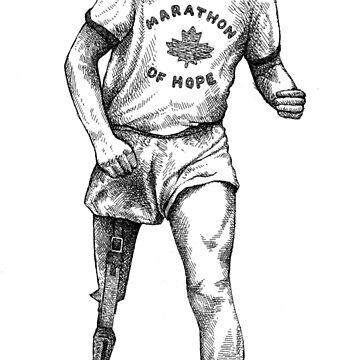 Terry Fox by MacKaycartoons