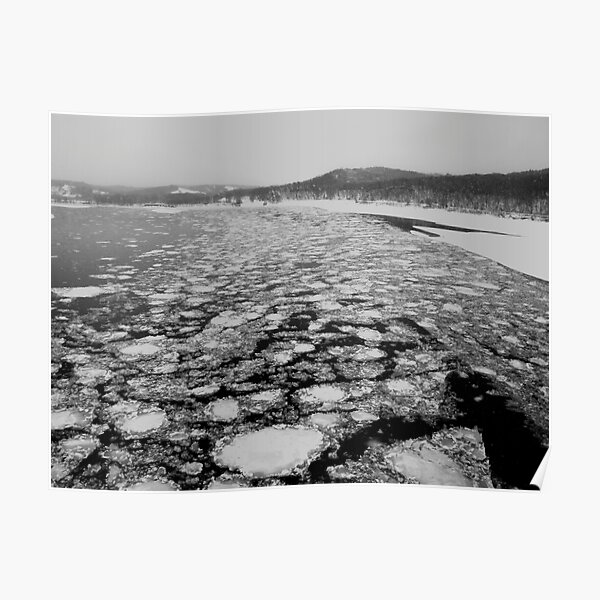 Ice on the Missouri River Poster