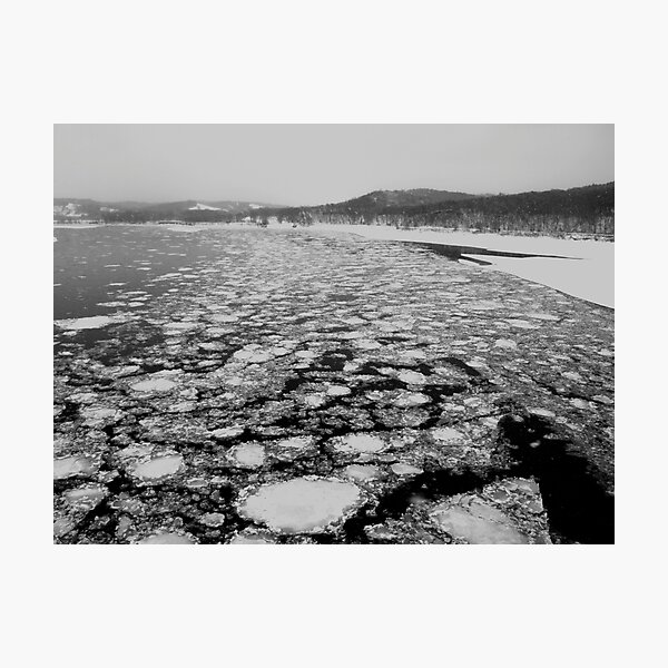 Ice on the Missouri River Photographic Print