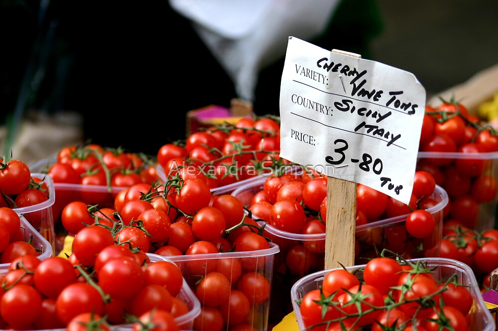 Cherry Red Toms by Alex Simpson