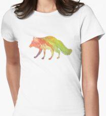 Fox Art Womens Fitted T-Shirt