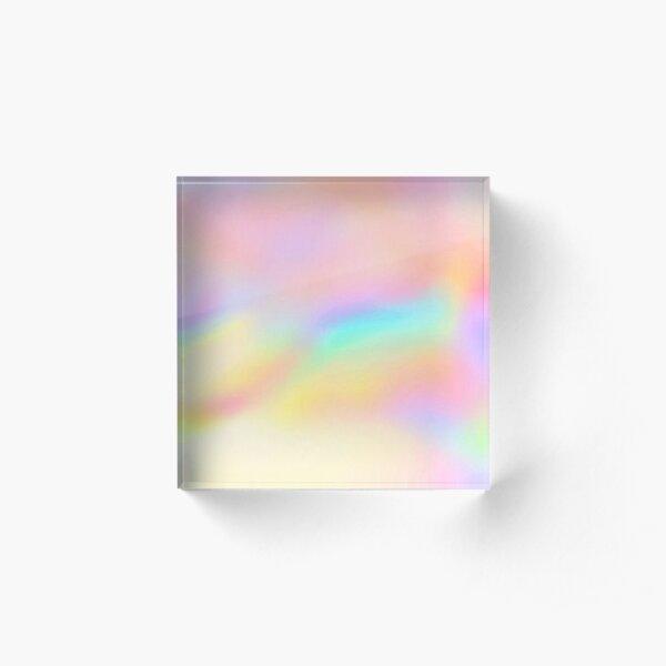 Iridescent Aesthetic Color Acrylic Block