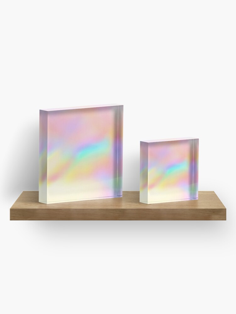 Alternate view of Iridescent Aesthetic Color Acrylic Block