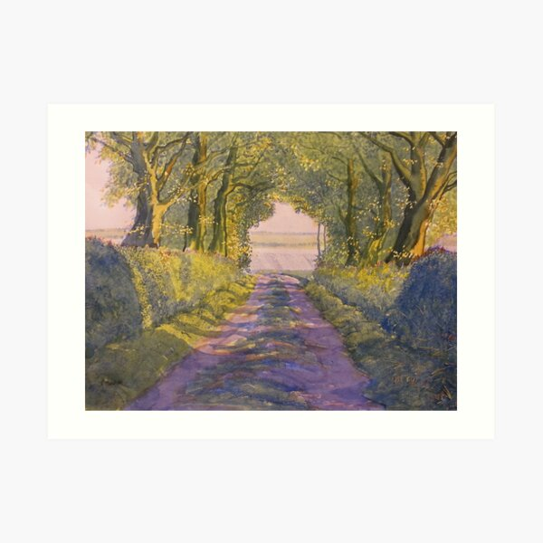 Hockney Trail Tunnel from t'Other Side Art Print