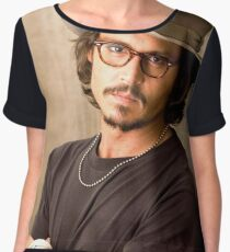 Johnny Depp Cool Women's Chiffon Top