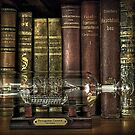 Ship in the bottle and antique books by gameover