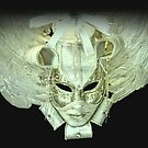 Baroque Venetian mask white by gameover