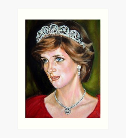 Lady Diana Art Print