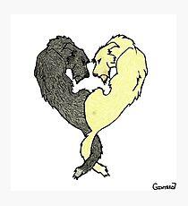 Irish Wolfhound Heart  Photographic Print
