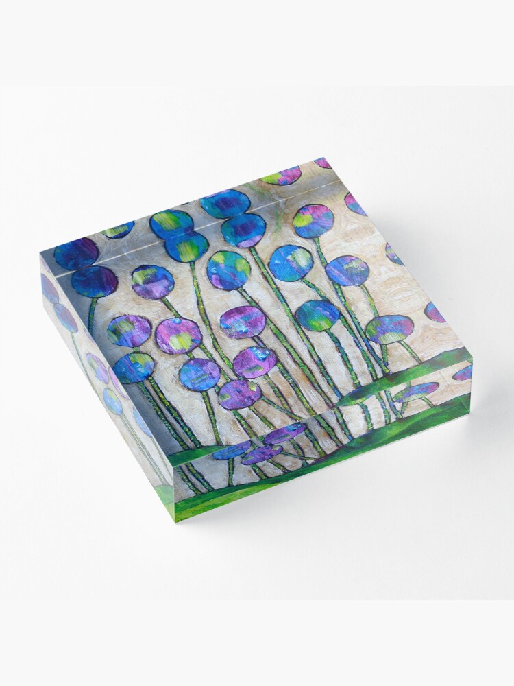Alternate view of Wildflowers Acrylic Block