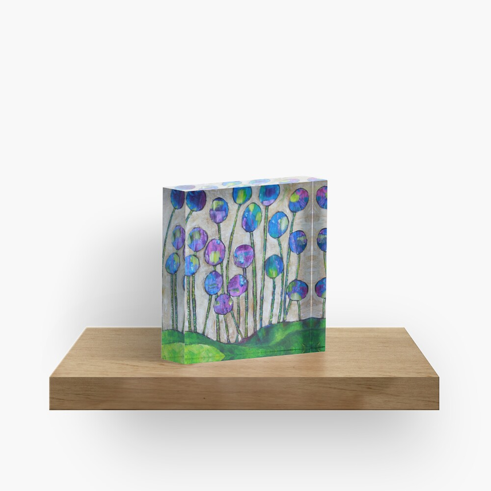 Wildflowers Acrylic Block