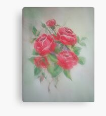 Red Morning Roses Canvas Print